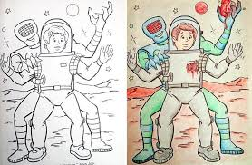 coloring books hands demented adults