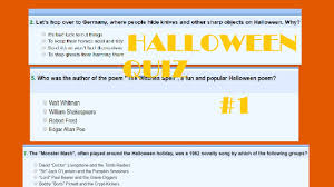 halloween quizzes 1 youtube