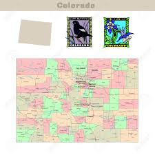 Usa State Map by Usa States Series Colorado Political Map With Counties Roads