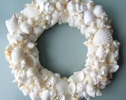 shell wreath seashell wreath sea shell wreath coastal