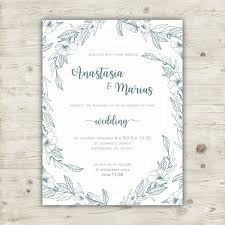 elegant floral wedding invitation template vector free download