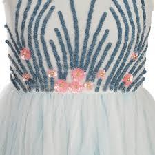 billieblush girls white and light blue sequined tulle dress