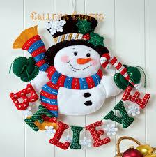 charming decoration christmas wall hangings fresh ideas santa excellent ideas christmas wall hangings cozy design snowman believe bucilla felt wall hanging kit 86333