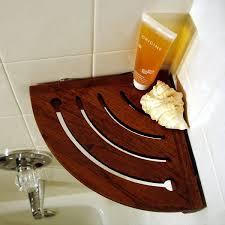 Wood Corner Shelf Design by Best 25 Shower Shelves Ideas On Pinterest Tiled Bathrooms