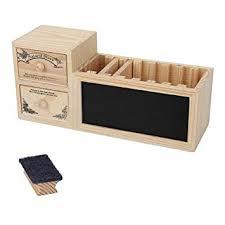 pot à crayons boîte stylos echelles tiroirs en bois rangement
