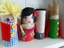make people and other characters out of cardboard cylinders for