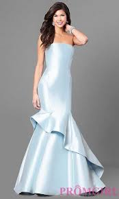 variety of styles ice blue long strapless ice blue prom dress long