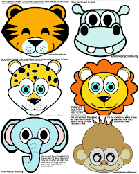 safari jungle themed birthday animals masks