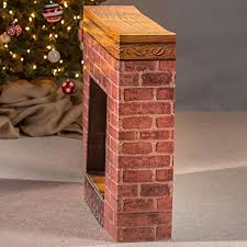 cardboard fireplace prop home kitchen