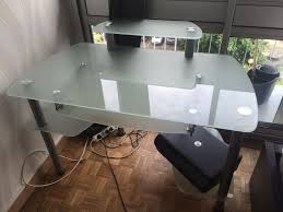 bureau informatique verre trempé bureau en verre fly bureau turbo en verre trempe noir achat et