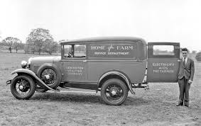 Vintage Ford Truck Mirrors - hard at work commercial cars and trucks earning their keep the