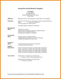 Functional Resume Template Word 6 Functional Resume Template Word Ats Resuming