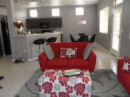 Living Room With Red Sofa by Furniture Red Sofa With Floral Ottoman By Walker Furniture Las