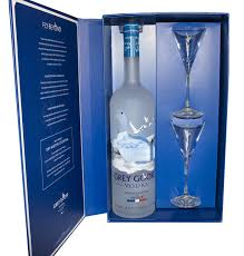 blue martini bottle goose vodka france gft pk w martini glasses 1 75li