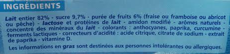 8 Pots by Yaourt Brassé Aux Fruits Fraise Framboise Abricot Pêche 8 Pots