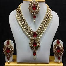jewelry necklace pearl set images Buy shining diva traditional jewellery kundan pearl necklace set jpg