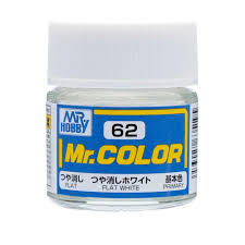 flat white color gsi creos mr hobby mr color c62 flat white 10ml primary paint
