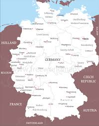 map germnay political map germany major tourist attractions maps