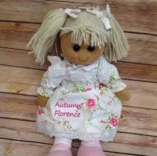 flower girl doll gift personalised pirate rag doll gift page boy by littlestitches1