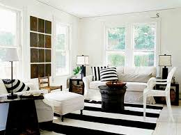 designs ideas monochrome country living room with white sofa and
