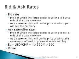 bid rate unit 2 2 exchange rate quotations forex markets