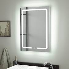 Lighted Mirror Bathroom Hilson Led Lighted Mirror Bathroom