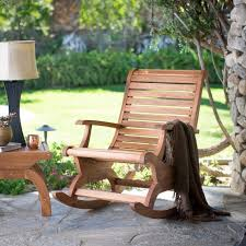 garden patio wooden adirondack rocking chair image chairs for