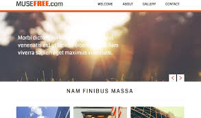 free muse template free adobe muse template choices pick among 16 themes