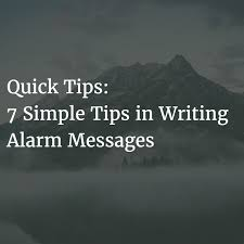 7 simple tips in writing alarm messages u2014 yokogawa advanced solutions