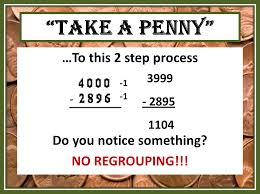 tricks of the teaching trade take a penny and take regrouping out