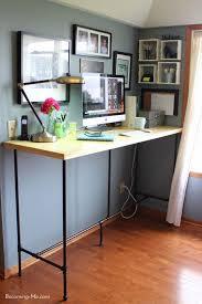 Rustic Modern Desk by The 25 Best Stand Up Desk Ideas On Pinterest Diy Standing Desk