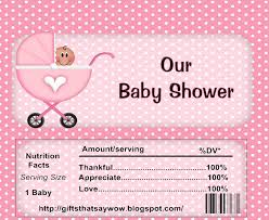Baby Shower List Of Gifts Template Free Printable Candy Bar Wrappers For Baby Showers Boy Or