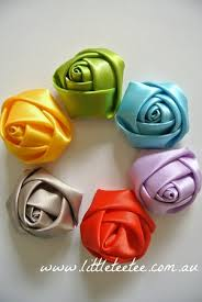 satin roses satin rolled roses 4cm x 1