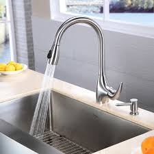 decorating modern kitchen design with nice graff faucets and