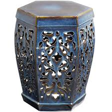 pier one embossed garden stool home outdoor decoration