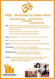 Haus Einkaufen Sa 24 11 Yoga Workshop Im Indien Haus