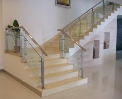 Glass Stair Banister Adorable Stainless Steel Handrail For Staircase Decoration Light