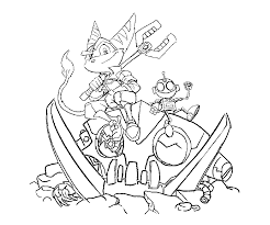 coloring download ratchet and clank coloring pages ratchet and