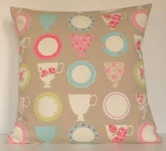 Cushions Shabby Chic by Details About Clarke And Clarke Shabby Chic Teacups In Taupe 16