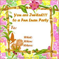 luau invitations free luau invitation templates 13 best images of free printable