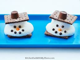 Christmas Party For Kids Ideas - melted snowman s u0027mores with christmas party ideas for kids