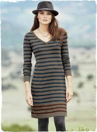 pomata sripe pima cotton dresses casual dresses knee length