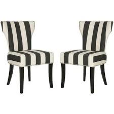 Black And White Striped Dining Chair Safavieh En Vogue Dining Matty Black And White Striped Dining