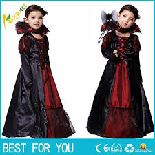 Girls Witch Halloween Costumes 2016 Witch Lace Dress Necklace Princess Party Dresses