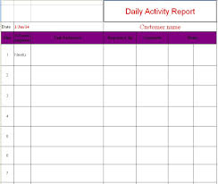 daily activity report template daily activity report template 2 professional and high quality