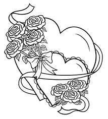 coloring pages cool coloring pages roses hearts di6alkxet