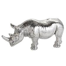 exquisite sterling silver rhinoceros ornament from jago quinn 91