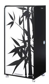 bureau secr aire informatique bureau secrétaire informatique design noir imprimé bambou elissa