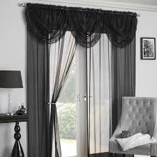 Black And Gray Curtains Decoration Kitchen Curtains Argos Voile Window Panels Black Lace