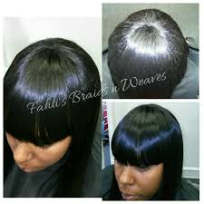 sew in weaves with bangs appealing full head sew in weave with bang remy hair yelp pics of